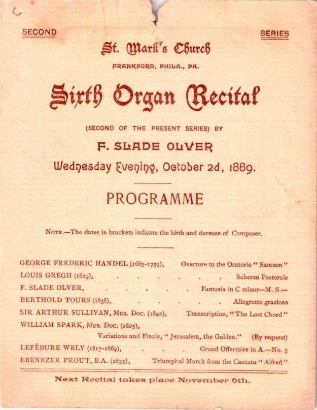 SixthOrganRecital1881-1