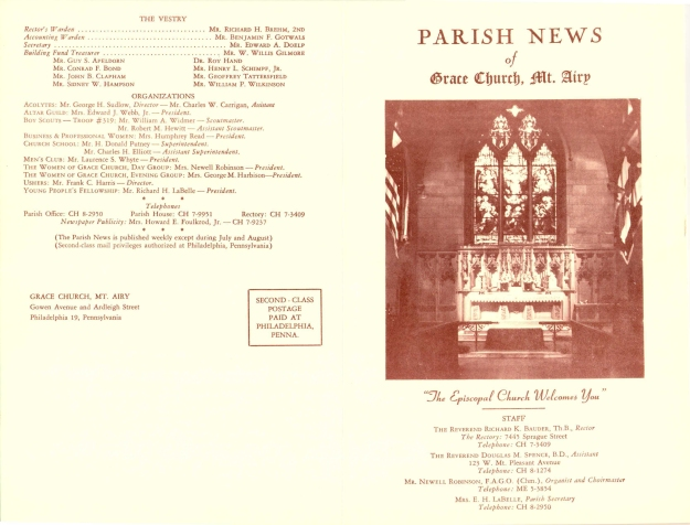 GraceChurchParishNews1961Part1-1