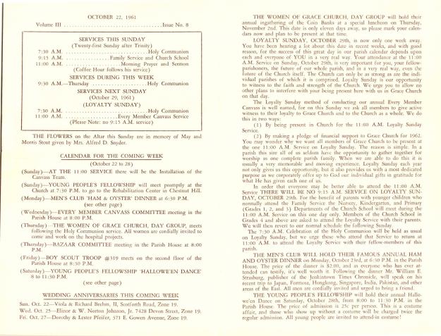 GraceChurchParishNews1961Part1-2
