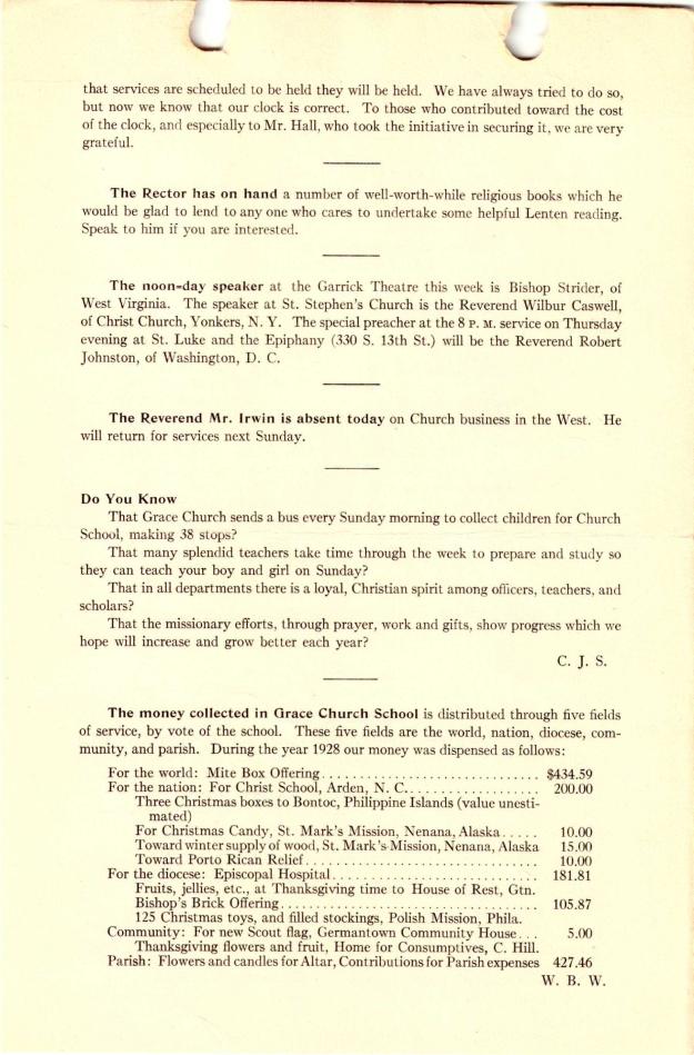 GraceChurchParishNews1929Part1-4