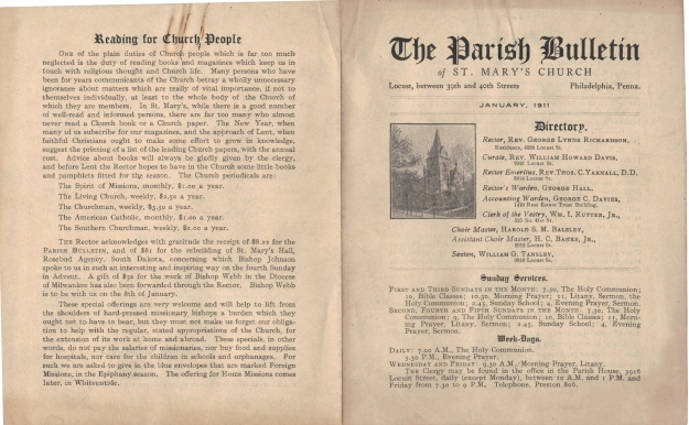 ParishBulletin1911-1