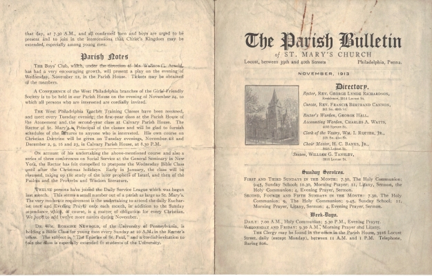 ParishBulletin1913-1