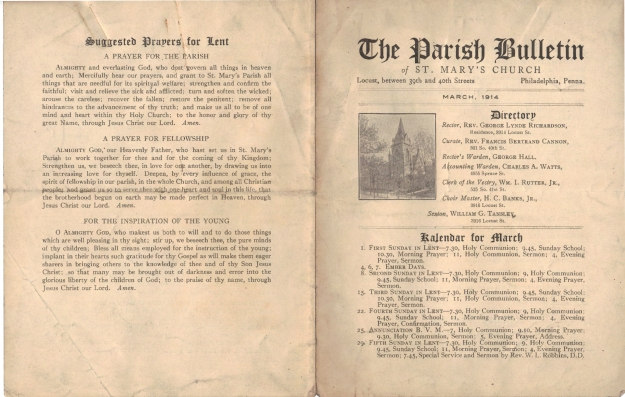 ParishBulletin1914-1