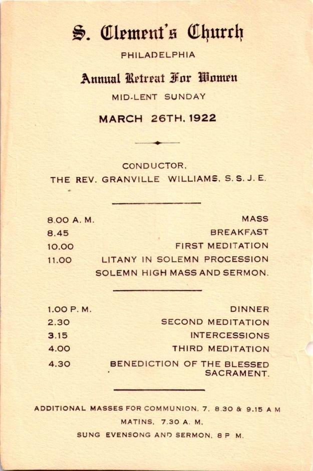AnnualRetreatforWomen1922-1