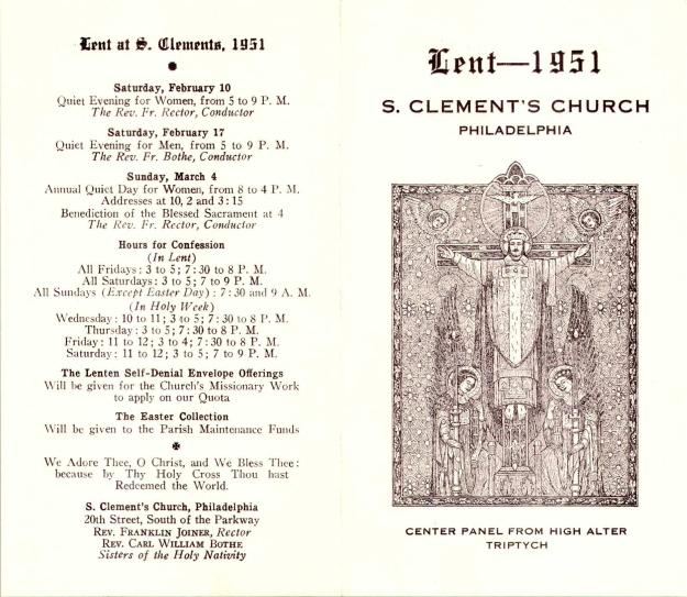 LentenProgram1951-1