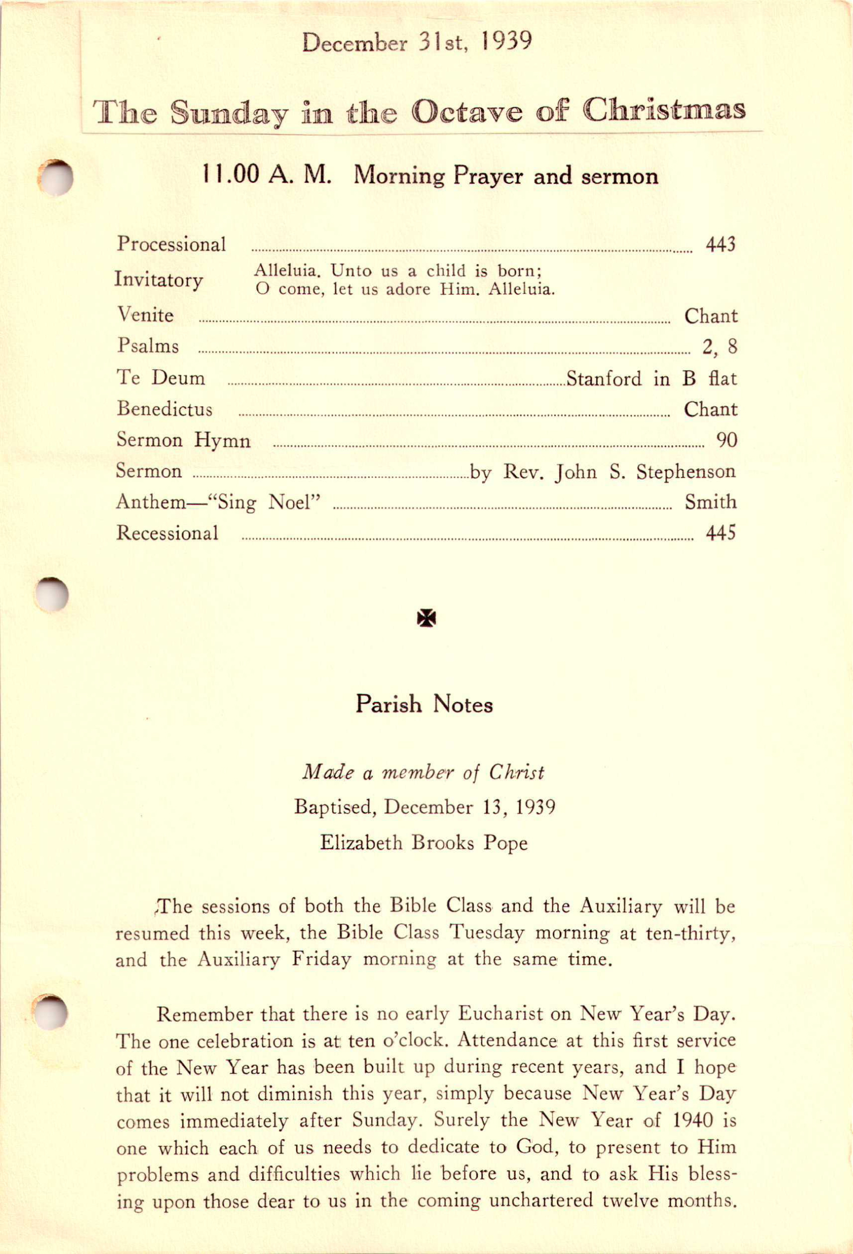 Parish News of St. Martin-in-the-Fields: Sunday in the Octave of ...