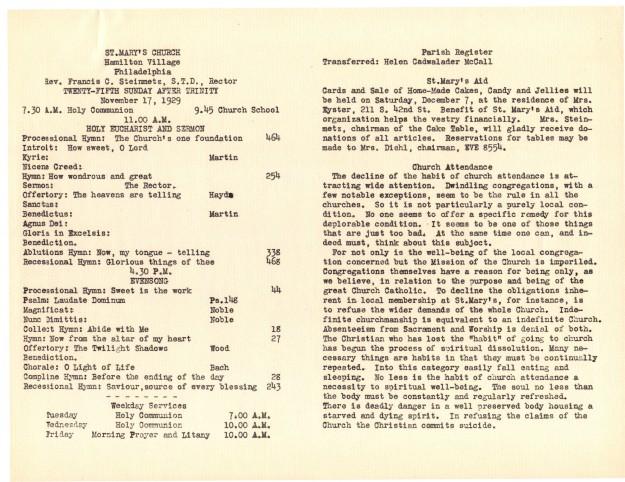 ServiceLeaflets1929-30