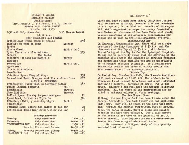 ServiceLeaflets1929-31