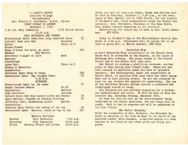 ServiceLeaflets1929-32