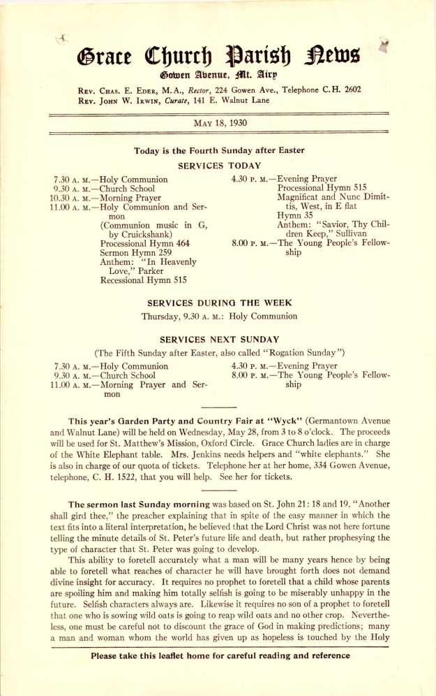 GraceChurchParishNews1930Part6_Page_5