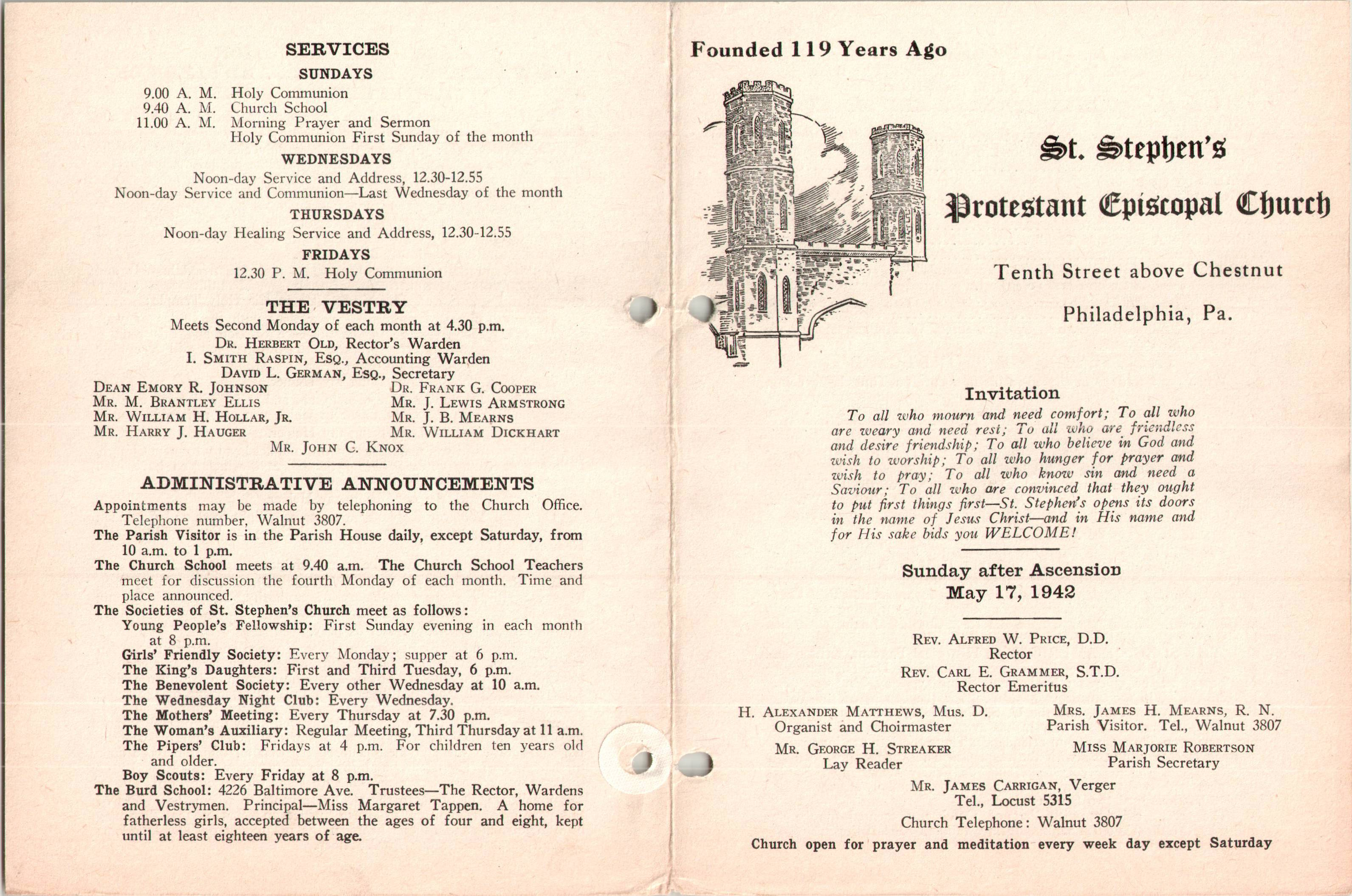 04f9d70c069b Service Leaflet for the Sunday after Ascension at St. Stephen s Church ...