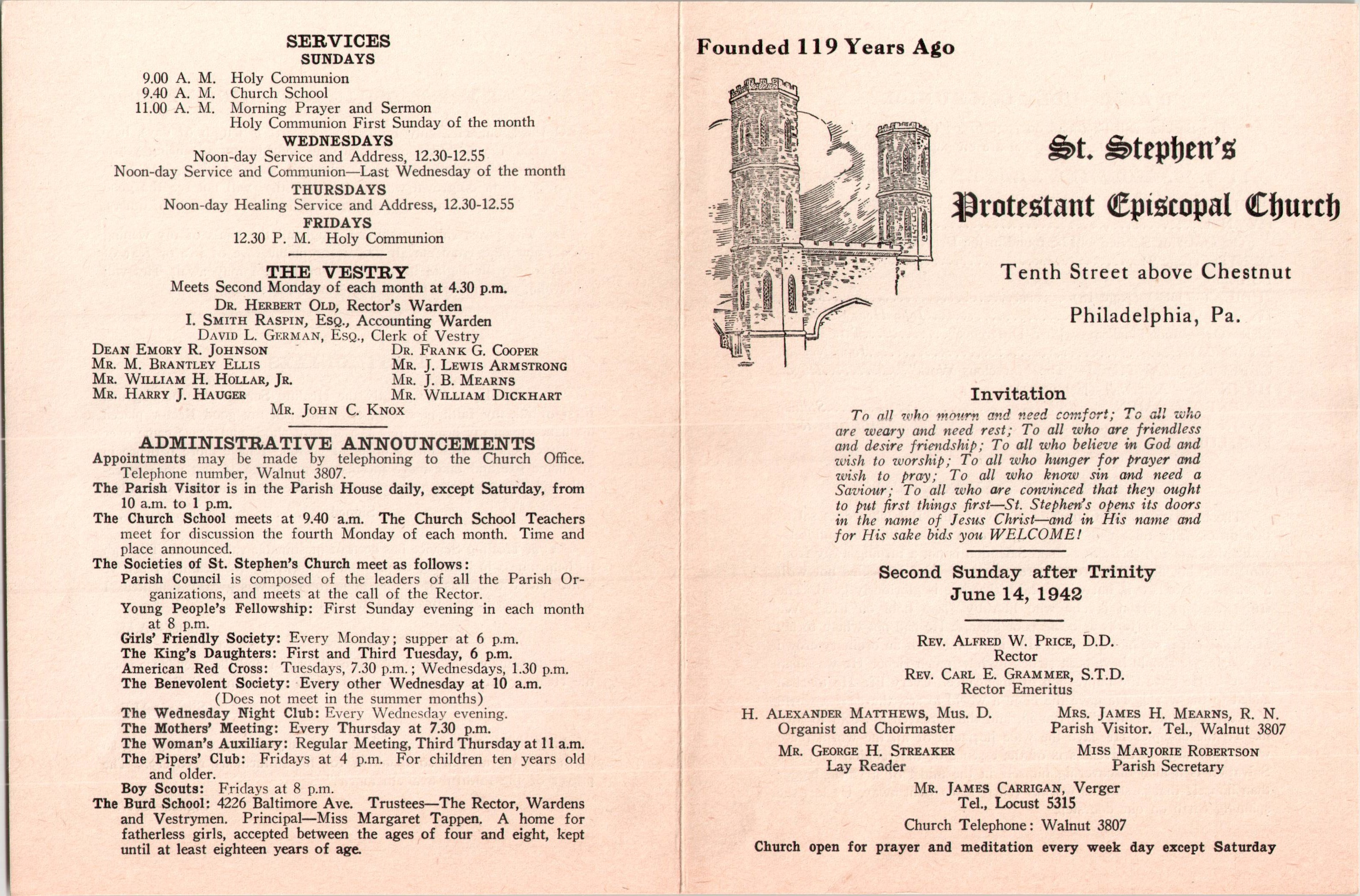 8a51614303f1 Service Leaflet for the Second Sunday after Trinity at St. Stephen s ...
