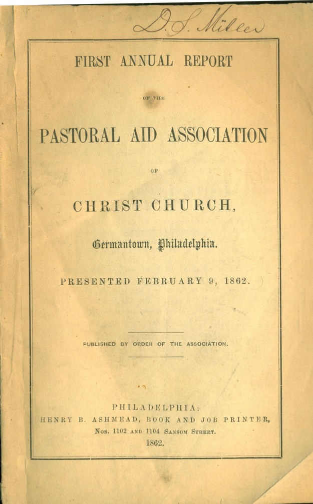 firstannualreportofthepastoralaidassocationofchristchurchgermantown1862 1a