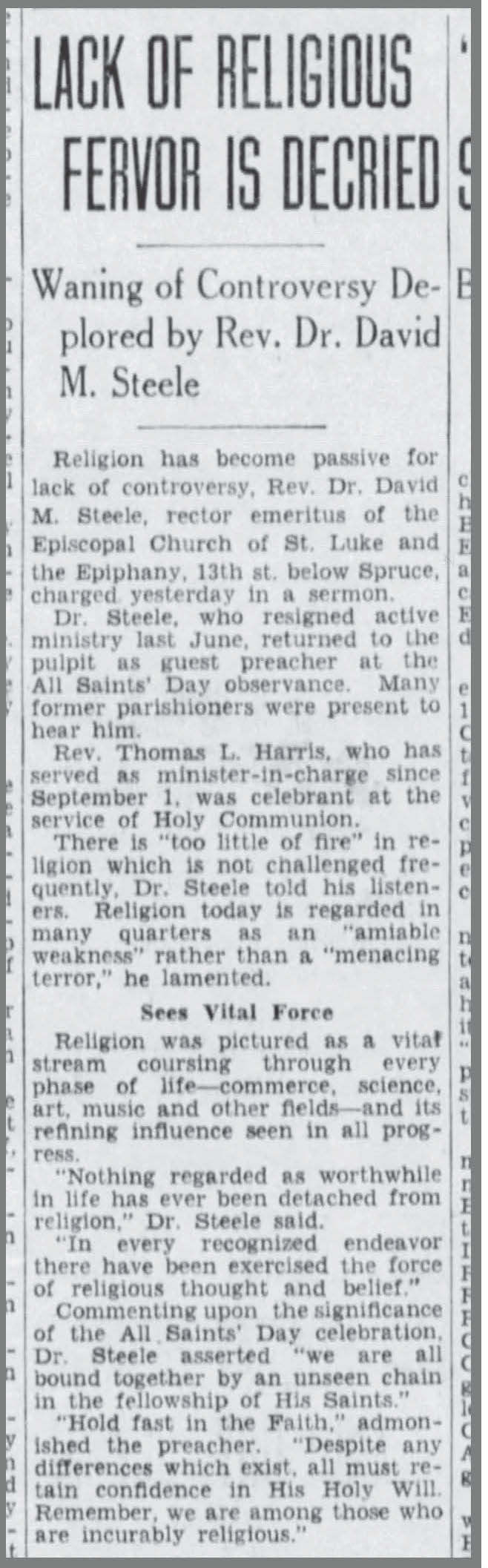 church of st luke the epiphany philadelphia studies 6nov1933